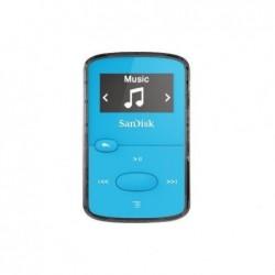 "SANDISK Lecteur MP3 ""Clip Jam"" 8GB + radio FM Ecran OLED N/B Slot MicroSD Bleu N"