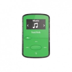 "SANDISK Lecteur MP3 ""Clip Jam"" 8GB + radio FM Ecran OLED N/B Slot MicroSD Vert N"