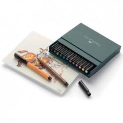 FABER-CASTELL Stylo à encre de chine OITT artist pen, boîte