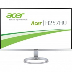 """ACER Écran LED - 25"""" - 2560 x 1440 QHD 4 ms - HDMI, DVI, DisplayPort - haut-parleurs - noir, argenté(e)"""