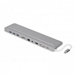 DIGITUS Station d'accueil pour ordinateur portable de 12 po, USB Type-C™