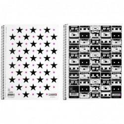 LANDRÉ Cahier MUSIC & STARS, A5 quadrillé, 160 pages