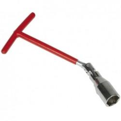 IWH Clés à bougie de 21 mm, double articulation, rouge
