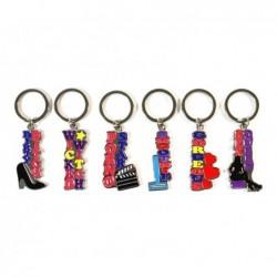 Porte-clés érotiques - 6x6 motifs différents  36 Pièces - SET-366