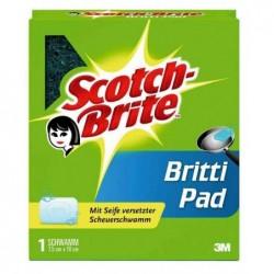 SCOTCH BRITE Scotch-Brite Eponge grattante Britti Pad, avec Savon