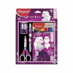 MAPED Kit cadeau pour élèves TATOO Princesse, 4 pièces