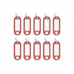 WEDO Paquet de 10 porte-clés avec anneau diamètre 18 mm Rouge