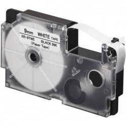 CASIO XR Schriftbandkassette, schwarz auf weiß, 12 mm / 8 m