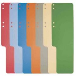 EXACOMPTA Queues de classement, carton, 100 pièces, bleu clair en carton recyclé