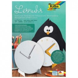 FOLIA horloge éducative, en carton, 7 pièces