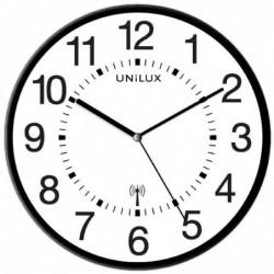"UNILUX Horloge/horloge radio-pilotée ""MAXI WAVE"", noir,"