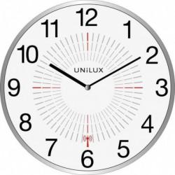 """UNILUX Horloge/horloge radio-pilotée """"OUTDOOR"""", argent,"""