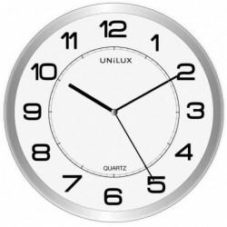 """UNILUX Horloge/horloge à quartz """"MAGNET"""", magnétique, argent"""