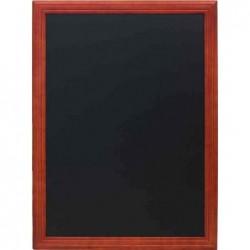 SECURIT Tableau noir UNIVERSAL, avec cadre en bois, acajou
