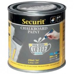SECURIT Peinture pour tableau ardoise PAINT, gris, 250 ml