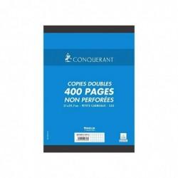 CONQUÉRANT Pqt de 100 copies doubles (400 pages) A4 quadrillé,70 g non-perforé