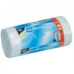PAPSTAR Sacs poubelle LDPE, 18 litres, blanc