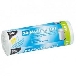 PAPSTAR Sacs poubelle LDPE, 60 litres, blanc