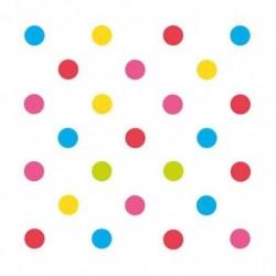 "SUSY CARD Serviettes à motif ""Mix it! Dots"", 330 x 330 mm"