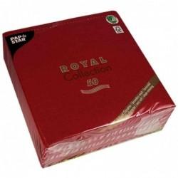 """PAPSTAR Serviettes """"ROYAL Collection"""", bordeaux"""