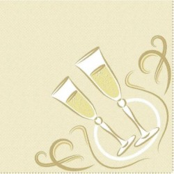 """PAPSTAR Serviettes """"ROYAL Collection"""", or"""