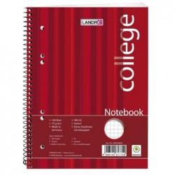 """LANDRÉ bloc-notes """"college"""", A5, 160 feuilles, quadrillé,"""