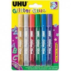 UHU Colle à paillettes Glitter Glue Original, présentoir de