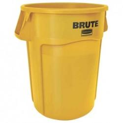 RUBBERMAID Collecteur BRUTE 166,5 litres, en PP, jaune