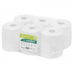 WEPA Colis de 6 Rouleaux essuie-mains dévidage central Comfort 1 couche 300 m recyclé