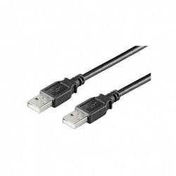 GOOBAY Câble USB 2.0 Hi-Speed Type A Mâle - Mâle 3 m Noir