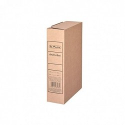 HERLITZ Boite d'archivage A4 (L)80 mm x (P)230 x (H)320 mm Carton Brun