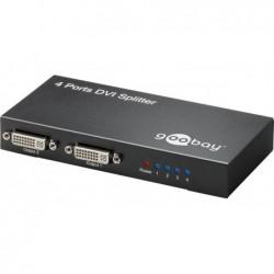 GOOBAY Splitter Vidéo DVI 24 + 5 divise un signal DVI jusqu'à 4 écrans