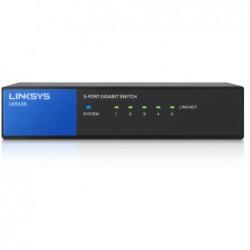 LINKSYS Commutateur - non géré - 5 x 10/100/1000 - switch de bureau - AC 100/230 V