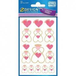 AVERY ZWECKFORM Sticker CREATIVE Ange 1 feuille