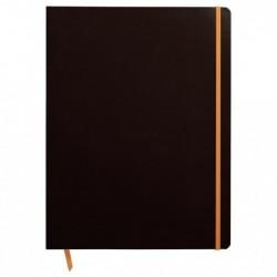 RHODIA cahier souple BLACK A4+ ligné 160p pap ivoire 90g