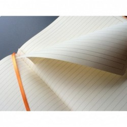 RHODIA cahier souple SAPHIR A4+ ligné 160p pap ivoire 90g