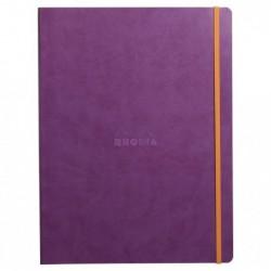 RHODIA cahier souple VIOLET A4+ ligné 160p pap ivoire 90g