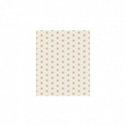 CLAIREFONTAINE Sachet de papier de soie 4F pliées 50x70 losanges tan