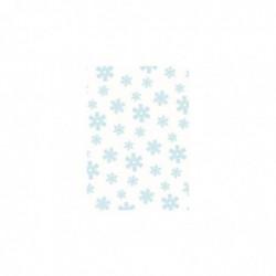CLAIREFONTAINE Sachet de papier de soie 4F pliées 50x70cm Flocons bleus