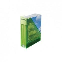HELIT porte-revues Economy Transparent, polystyrène, vert