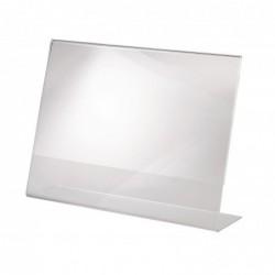 SIGEL présentoir de table, acrylique,format A4 à l'italienne