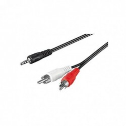 GOOBAY Câble audio 2xRCA vers jack 3.5mm 10 m Noir