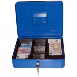 PAVO Caisse à monnaie 6 Compartiments (L)250 x (P)180 x (H)90 mm Bleu