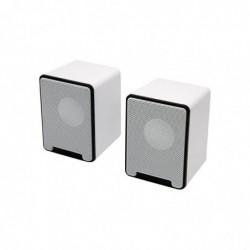 MCL SAMAR Mini Haut-parleurs 10W RMS alimentés par l'USB Blanc