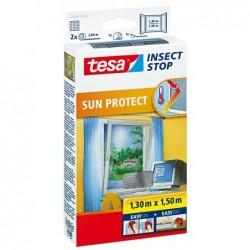TESA Moustiquaire avec protection solaire pour fenêtres 1,3 x 1,5 m
