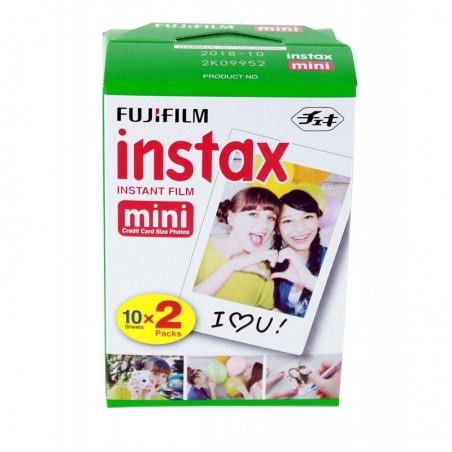 FUJIFILM Lot de 2 Pack 10 Instax Film Mini