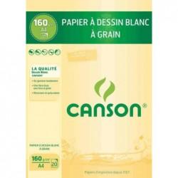 CANSON Papier à dessin blanc A4 160 g 20 feuilles