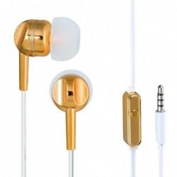 """THOMSON Ecouteurs stéréo intra-auriculaires """"EAR 3005"""" avec microphone gold"""