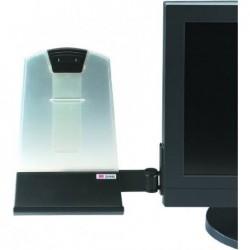 3M Porte-copies DH445 pour écrans plats, acrylique/noir porte jusqu'à 30 feuilles