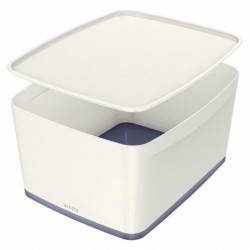 LEITZ Boîte de rangement My Box A4 18 litres, blanc/gris